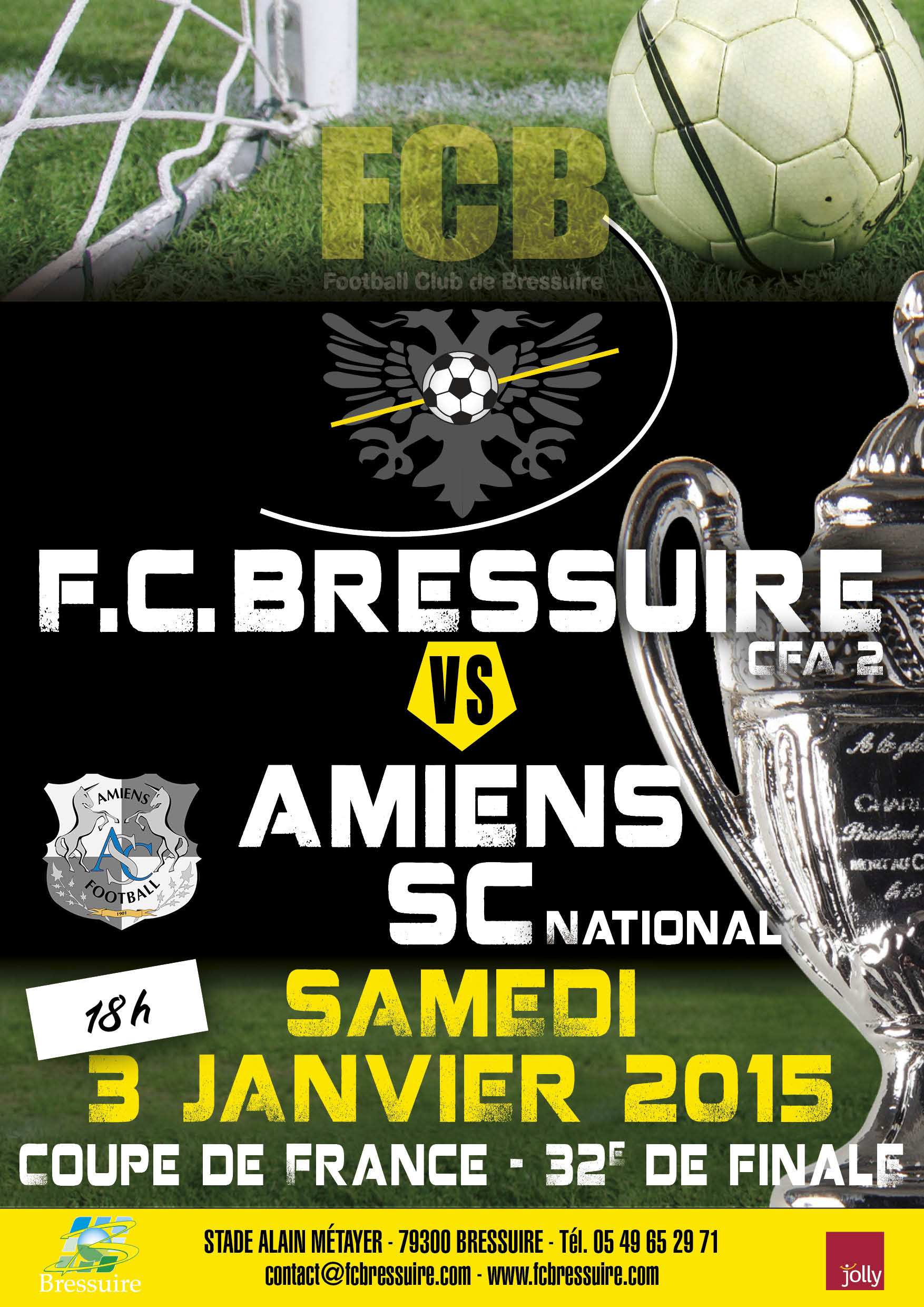 Football club de bressuire parcours cdf coupe de france - Finale coupe de france football 2015 ...