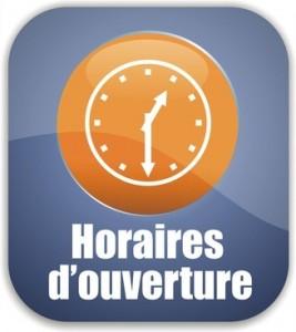 bouton horaires d'ouverture