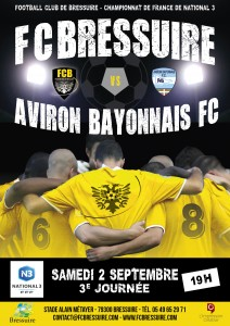 FOOTBALL CLUB BRESSUIRAIS AFFICHE MATCH 2018 - 2017070096 DEF2