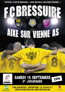 FOOTBALL CLUB BRESSUIRAIS AFFICHE MATCH 2018 - 2017070096 DEF4