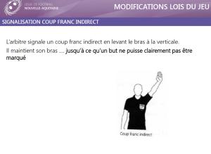 coupe franc indirect