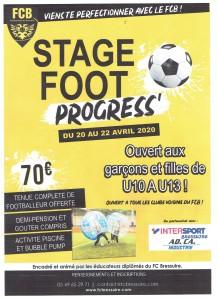 Affiche du foot progress avril 2020