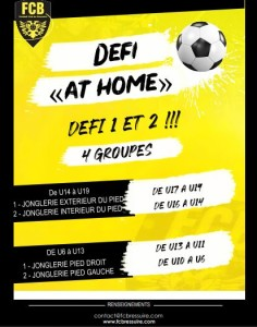 DEFI AT HOME - Défi 1 et 2
